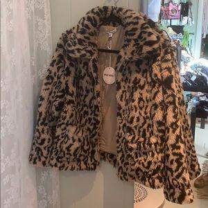 Leopard Print Fuzzy Jacket